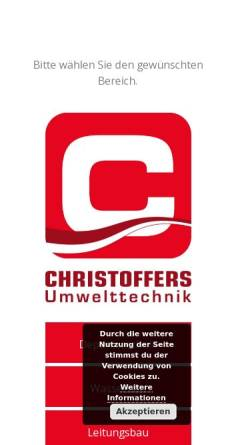 Vorschau der mobilen Webseite christoffers.de, Christoffers Kulturbau GmbH