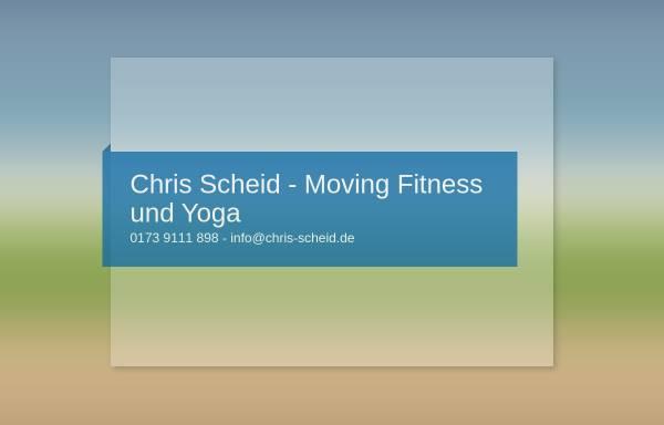Vorschau von www.chris-scheid.de, Chris Scheid - Fitness aktiv erleben