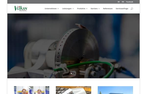 Vorschau von www.vulkantechnic.de, Vulkan Technic Maschinen-Konstruktions GmbH
