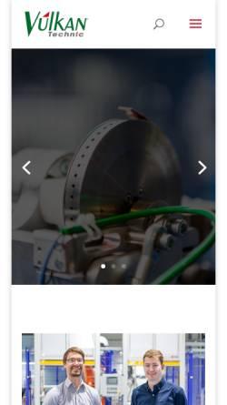 Vorschau der mobilen Webseite www.vulkantechnic.de, Vulkan Technic Maschinen-Konstruktions GmbH