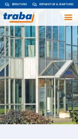 Vorschau der mobilen Webseite www.traba.de, traba GmbH & Co. KG