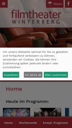 Vorschau der mobilen Webseite www.filmtheater-winterberg.de, Filmtheater Winterberg