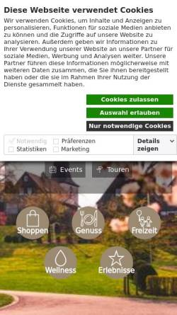 Vorschau der mobilen Webseite www.winterberg.de, Winterberg
