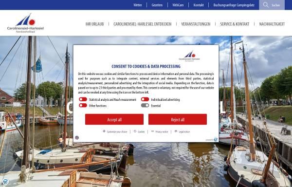 Vorschau von www.carolinensiel.de, Nordseebad Carolinensiel-Harlesiel