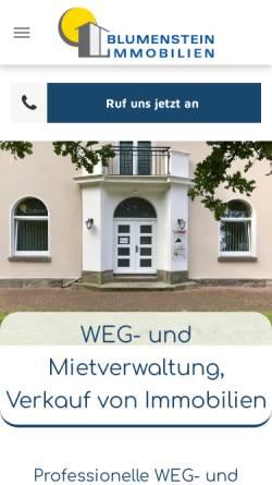 Vorschau der mobilen Webseite www.blumenstein-immobilien.de, Blumenstein Immobilien