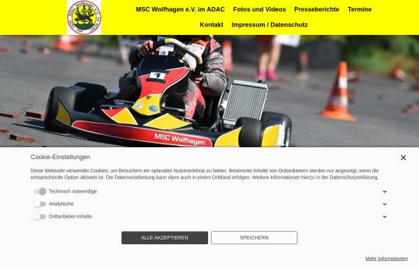 Vorschau von www.msc-wolfhagen.de, MSC Motorsportclub Wolfhagen e.V. im ADAC