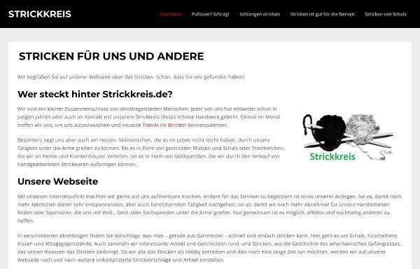 Vorschau von www.strickkreis.de, Strickkreis Niederelsungen - Helfen gegen Not und Elend dieser Welt