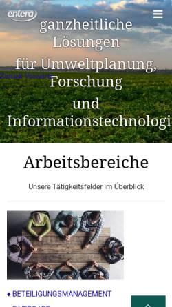 Vorschau der mobilen Webseite www.entera.de, Entera