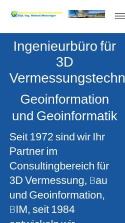 Vorschau der mobilen Webseite www.wenninger.de, Firmengruppe Wenninger