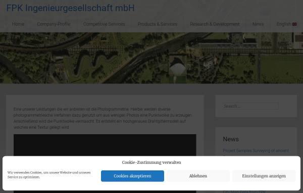 Vorschau von www.fpk.de, FPK - Ingenieurgesellschaft mbH