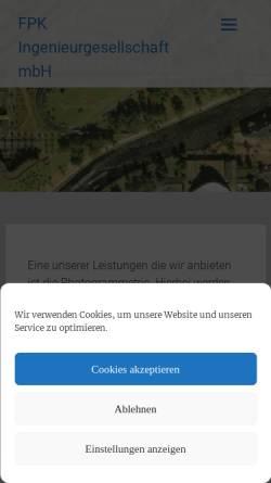 Vorschau der mobilen Webseite www.fpk.de, FPK - Ingenieurgesellschaft mbH