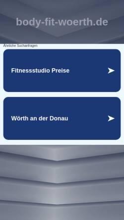 Vorschau der mobilen Webseite www.body-fit-woerth.de, Body-Fit