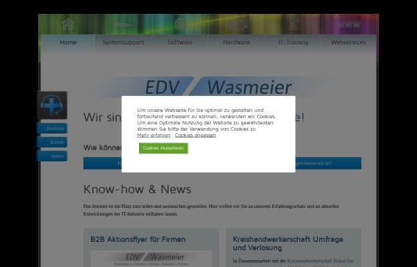 Vorschau von www.edv-wasmeier.de, EDV-Wasmeier