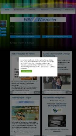 Vorschau der mobilen Webseite www.edv-wasmeier.de, EDV-Wasmeier