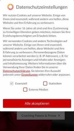 Vorschau der mobilen Webseite www.heuwerth.de, Silke Heuwerth Mensch & Organisation