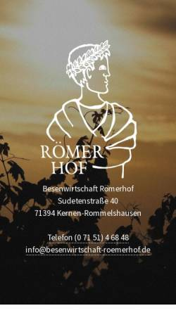 Vorschau der mobilen Webseite www.besenwirtschaft-roemerhof.de, Besenwirtschaft Römerhof