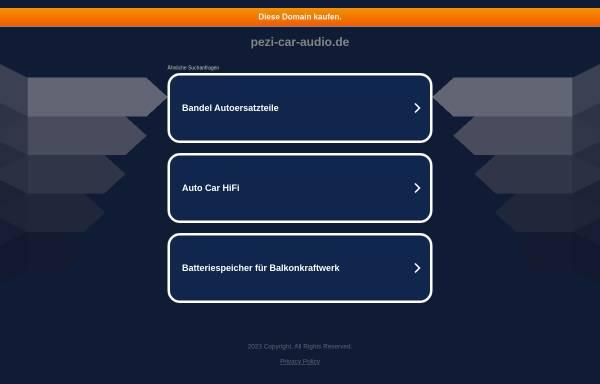 Vorschau von www.pezi-car-audio.de, Car Audio Tuning Frank Grolik