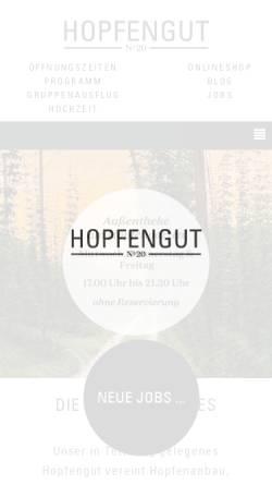 Vorschau der mobilen Webseite www.hopfenmuseum-tettnang.de, Hopfenmuseum Tettnang