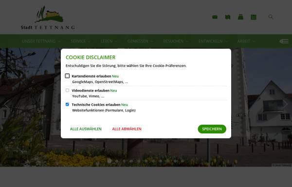 Vorschau von www.tettnang.de, Stadt Tettnang