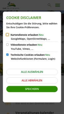 Vorschau der mobilen Webseite www.tettnang.de, Stadt Tettnang