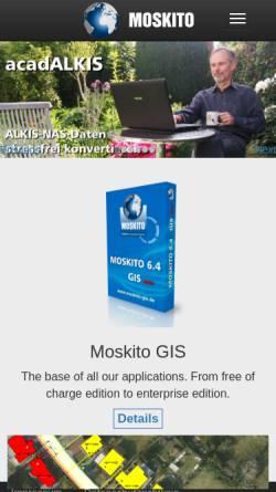 Vorschau der mobilen Webseite www.moskito-gis.de, Moskito Geo Informations Systeme GmbH