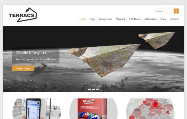 Vorschau von www.terracs.com, Terracs - Geographische Informationssysteme und Dienstleistungen