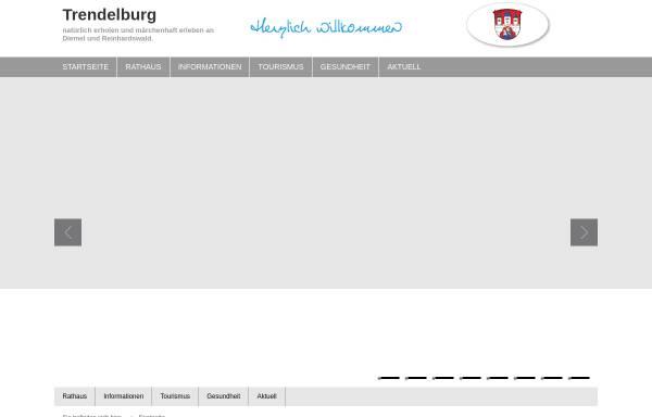 Vorschau von www.trendelburg.de, Stadt Trendelburg