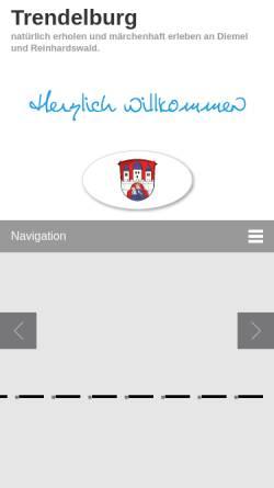 Vorschau der mobilen Webseite www.trendelburg.de, Stadt Trendelburg