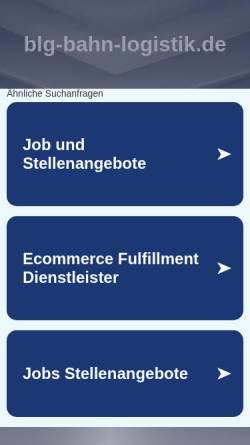 Vorschau der mobilen Webseite www.blg-bahn-logistik.de, BLG Bahn-Logistik GmbH