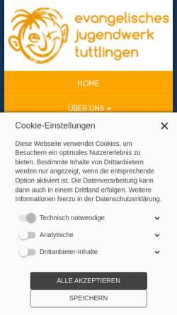 Vorschau der mobilen Webseite www.ejtut.de, Evangelisches Jugendwerk