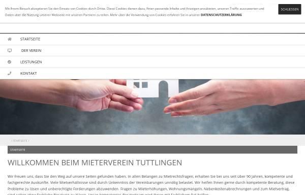 Vorschau von www.mieterverein-tut.de, Mieterverein Tuttlingen und Umgebung e.V.