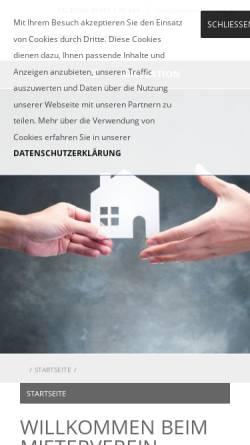 Vorschau der mobilen Webseite www.mieterverein-tut.de, Mieterverein Tuttlingen und Umgebung e.V.