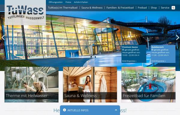 Vorschau von www.tuwass.de, TuWass - Tuttlinger Wasserwelt