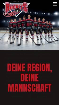 Vorschau der mobilen Webseite www.egdl.de, Eissport Gemeinschaft Diez Limburg e. V.