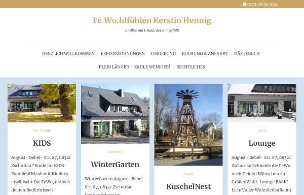 Vorschau von www.ferienwohnung-hennig.de, Ferienwohnung Kerstin Hennig