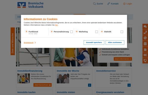 Vorschau von www.bremischevb.de, Volksbank Immobilien