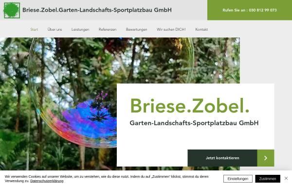 Vorschau von www.briesezobel.com, Briese.Zobel. Garten- Landschafts- und Sportplatzbau GmbH