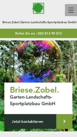 Vorschau der mobilen Webseite www.briesezobel.com, Briese.Zobel. Garten- Landschafts- und Sportplatzbau GmbH