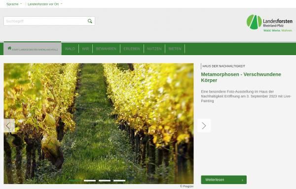 Vorschau von www.wald-rlp.de, Landesforstverwaltung Rheinland-Pfalz