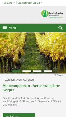 Vorschau der mobilen Webseite www.wald-rlp.de, Landesforstverwaltung Rheinland-Pfalz