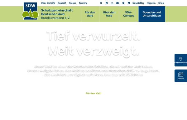 Vorschau von www.sdw.de, Schutzgemeinschaft Deutscher Wald