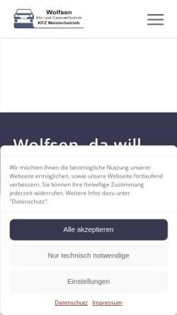 Vorschau der mobilen Webseite www.autoteile-shop-leck.de, Autoteile-Shop Leck, Waltraud Wolfsen