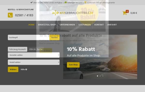 Vorschau von www.kfzgebrauchtteile24.de, Autoverwertung Bertelwick