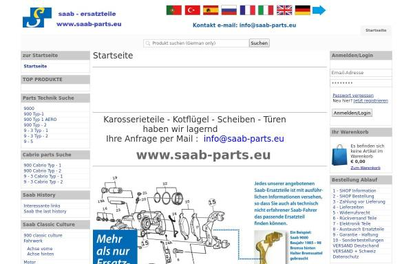 Vorschau von www.saab-ersatzteile.de, Saab-Ersatzteile, Oekoprinting GmbH