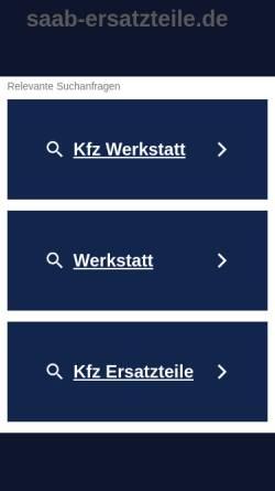 Vorschau der mobilen Webseite www.saab-ersatzteile.de, Saab-Ersatzteile, Oekoprinting GmbH