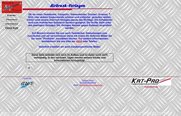 Vorschau von www.airbrush-vorlagen.de, Airbrush-Vorlagen, Torsten Pross
