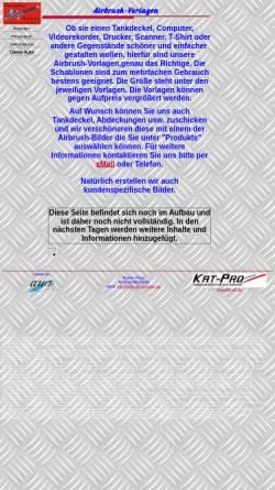 Vorschau der mobilen Webseite www.airbrush-vorlagen.de, Airbrush-Vorlagen, Torsten Pross