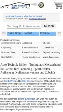 Vorschau der mobilen Webseite www.atb-tuning.de, Auto Technik Bihler