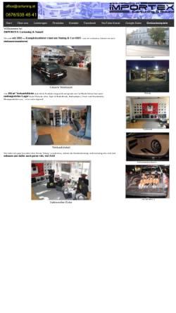 Vorschau der mobilen Webseite www.cartuning.at, Importex Handels GmbH