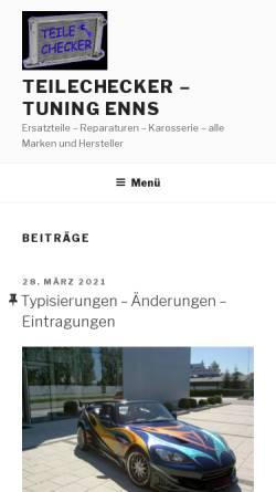 Vorschau der mobilen Webseite www.tuning-enns.net, Schuhmann Tuning Enns